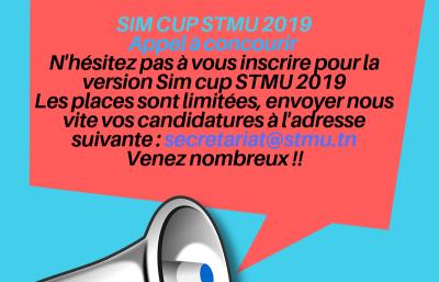 SIM CUP STMU 2019, Appel à concurir