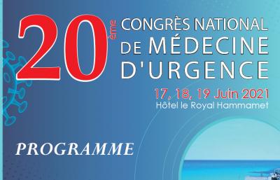 Programme du 20ème Congrès National de Médecine d'Urgence